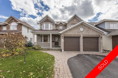 Barrhaven Detached for sale:  5 bedroom  Stainless Steel Appliances, Granite Countertop, Hardwood Floors, Laminate Floors  (Listed 2017-10-26)
